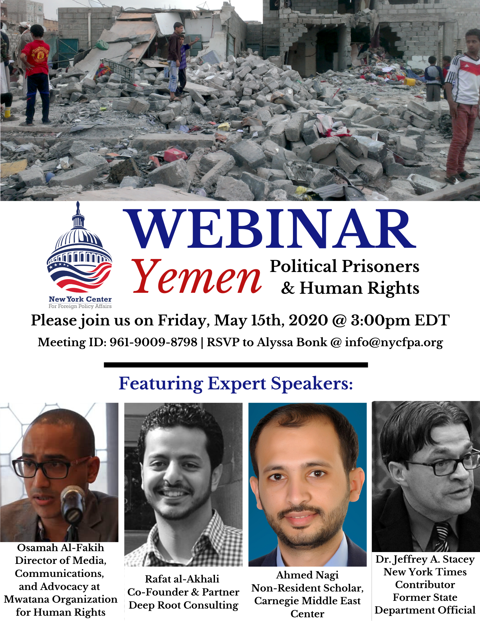 Yemen's Political Prisoners and Human Rights Webinar