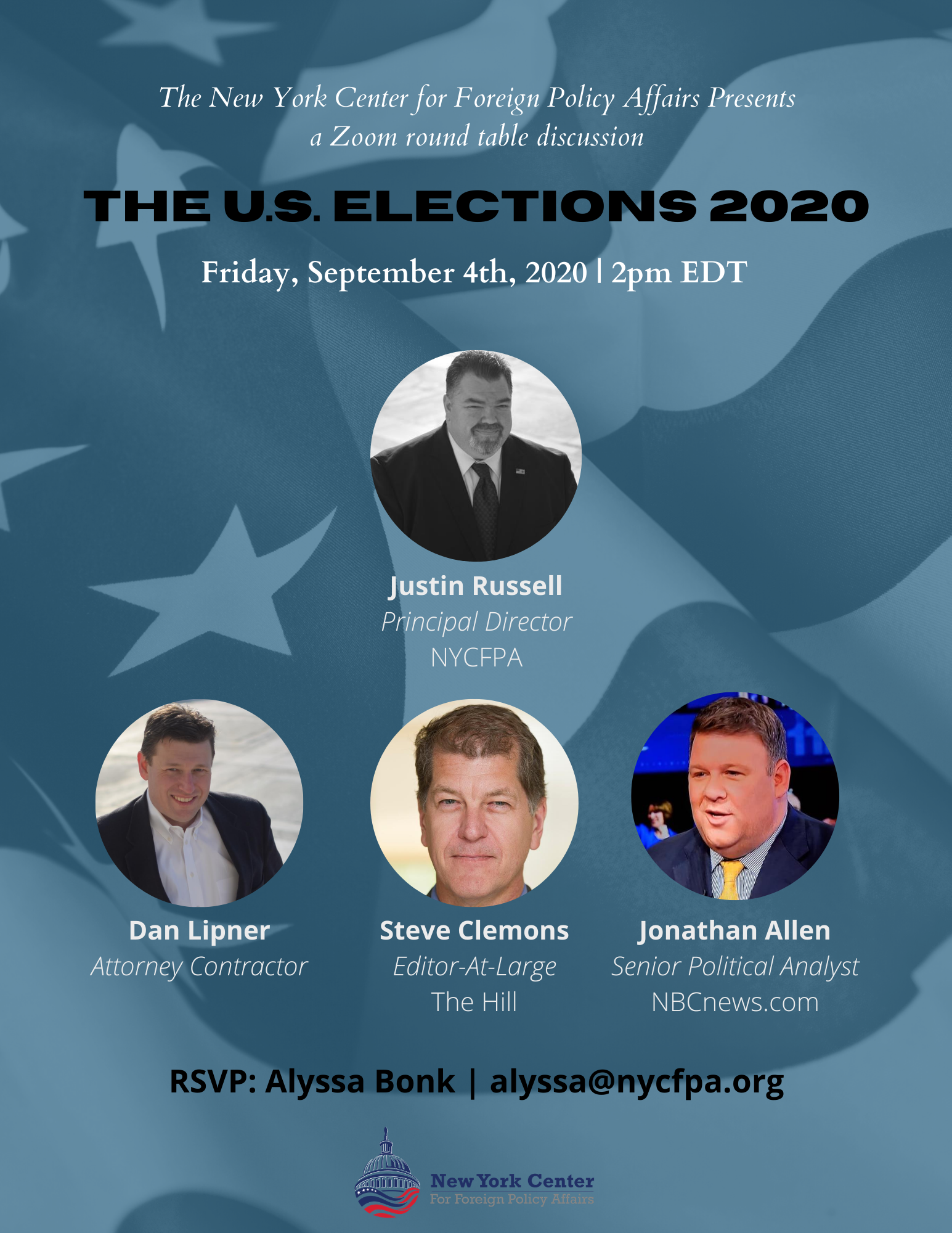 Zoom Webinar: The U.S. Election 2020